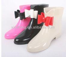 Ladies high heel PVC waterproof jelly rain boots shoes online shop