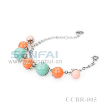 Round Pearl Beads Bracelet and Fashion Accessories