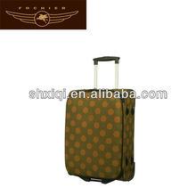 yellow 2014 cute polka dot luggage wholesale