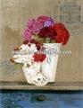 flor de madera de la pared decoración de arte de la pintura