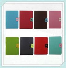 Fashion dual color flip for ipad 5 pu leather case
