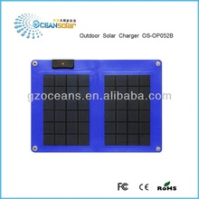 Outdoor solar charger OS-OP052B foldable solar panel solar charger 800mA current constant 5V and anti-charging protection