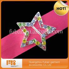 fashion colorful star mini rhinestone buckles