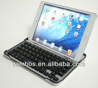 Gift Aluminum Alloy Protective Stand Tablet Bluetooth Keyboard for iPad Mini