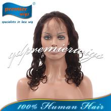 hot sale Brazilian virgin human hair lace wigs-loose curl texture
