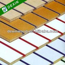 One side Solid Color or Wood Grain Melamine Slot MDF Panel