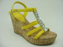 hemp wedge sandals with braided rope