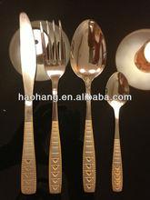 16 unids de acero inoxidable 18/0 oro juego de cubiertos de plata utensilios