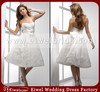 WD01 New Short Casual Beach Wedding Dresses 2014