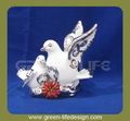 De cerámica de la paloma de la paz del hogar estatua