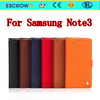 China Genuine leather phone case for samsung note 3 designer case for samsung galaxy note 3