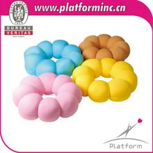 3D flower patchwork japanese style doughnut pillow