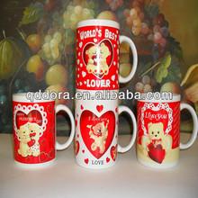 cute bear printing ceramic mugs,ceramic coffee mugs for gift,fashion design ceramic mugs