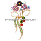 new fashion cheap crystal flower brooch for women