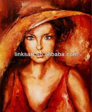 beautiful girl oil painting handmade