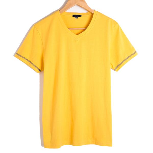 Custom V-neck Blank 100 Cotton T Shirts