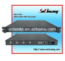 SC-1135 4-channel ts over ip mpeg4/h.264 encoder hd-sdi