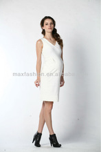 New arrival fashion style sleveless white maternity belly band