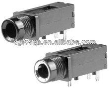 1/4 mono jack plug 6.35 mm mono jack socket panel mount with nut PJ6002A