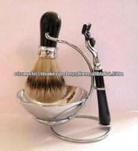 professional top grade shaving brush and razor