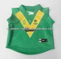 100% polyerster bebé vestido, para bebés de rugby jersey uniforme