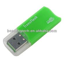 mini usb transflash microsd usb flash drive green