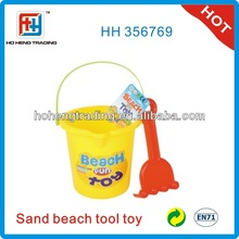 Mini beach bucket toy, plastic bucket beach toys