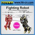 2.5ch rc controle remoto helicóptero robô lutador