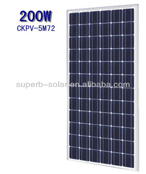 import solar panels mono 200w from china with IEC61215,TUV,UL,CE