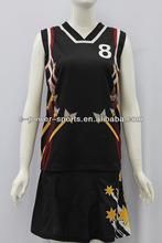 custom full sublimation basketball uniform design for woman