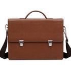 2014 high quality men faux leather office shoulder briefcase with key lock at cheap factory price wholesale
