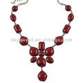 Red rose pingente, coral jóia de pedra, flor pingente colar( swtzll420)