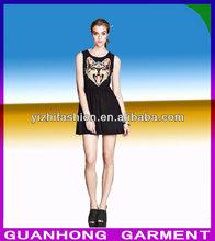 fashion Summer Dress New Cat Head Owl Pattern Vest women dress