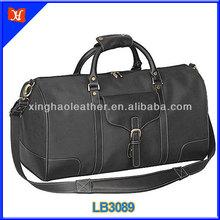 Fashion vintage leather mens zipper travel bag,hot sale men's leather duffel bag military duffel bag,vintage leather duffel bag