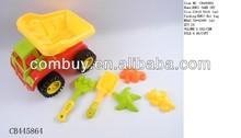 plastic beach car toys set beach sand molds toys promotion toys