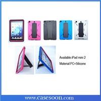 For IPAD MINI2 Case, HEAVY DUTY RUGGED IMPACT 2 LAYER CASE COVER For iPad Mini2 KICKSTAND,Mini2 Case