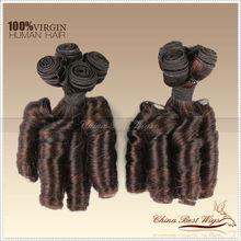 unprocessed human hair 5a virgin brazilian hair Nigeria curl plastic bags for hair extensions