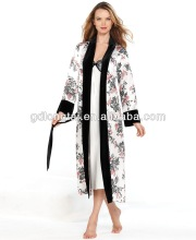 White Floral Long Nightgowns and Long Robe