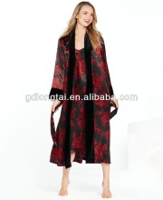 Floral Robe and Long Gown for ladies Twin sets Nightgowns
