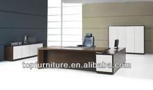 Elegant Design Walnut Veneer L Shaped Executive Desk