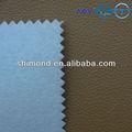 Amarelo ocre cor gravado padrão 100% couro do pvc para o saco