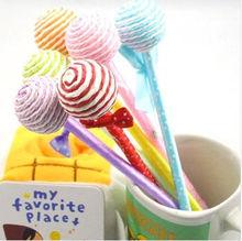 Gift stationery candy pen lollipop bow pen ballpoint pen prize