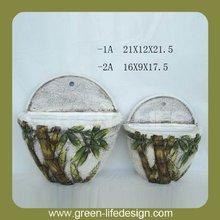 modello di bambù ceramica appeso parete fioriere