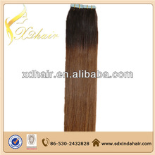 Grade 5a factory no shedding full cuticle double drawn wavy hair tape extensions