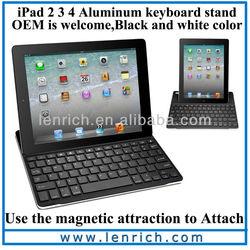 LBK114 2013 Ideal Design Ultra-Thin Bluetooth Keyboard For iPad 2 Case Aluminum