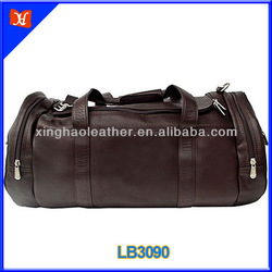Hotsale high quality Genuine leather travel bag,Duffel bag two compartment duffel bag,round duffel bag,fashion duffel bag