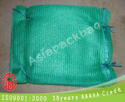 TL-R270 hot wholesale green color PE Vegetable Fruit Mesh Bag Drawstring