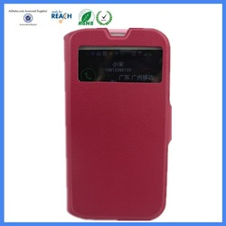 leather flip cases for samsung galaxy s4 with windows and sleep function