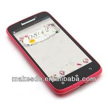 Cheap Original phone lenovo A516 CASE Android 4.2 MTK6572 Dual core 512MB RAM 4GB ROM 4.5'' screen 5MP camera 3G Dual SIM card