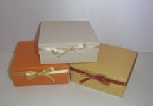 cute handmade paper gift box with a ribbon